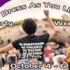Dress As You Like, October 4 - 6